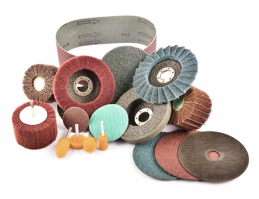 A range of coated abrasive products